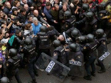 Imagen de archivo de los disturbios de Cataluña
