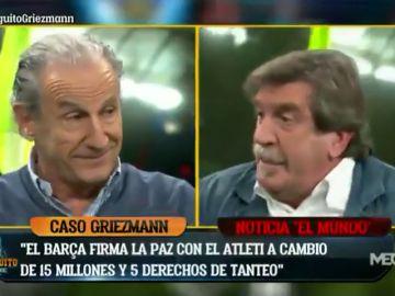 """Brutal cara a cara entre Iñaki Cano y Petón por Griezmann: """"¿Cómo no me voy a enfadar?"""""""