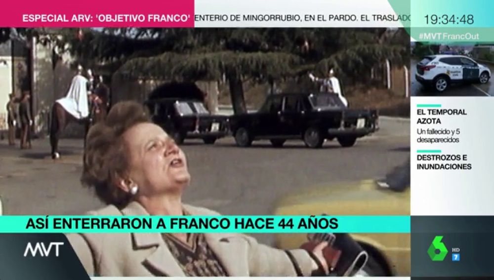 """Así se vivió el entierro de Franco en 1975: """"¡Viva nuestro santo caudillo, yo doy la vida por ti, que la mía no tiene importancia!"""""""