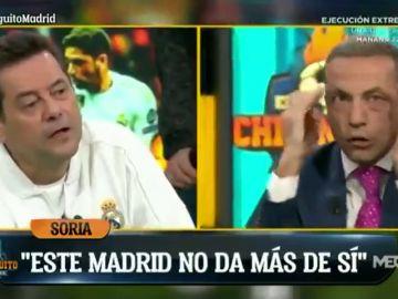 """Cristóbal Soria y Tomás Roncero se enzarzan en 'El Chiringuito': """"Habéis pegado un petardo"""""""