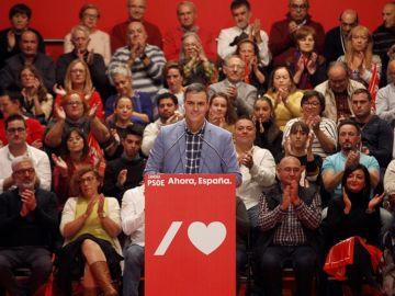 El candidato del PSOE, y presidente del Gobierno en funciones, Pedro Sánchez