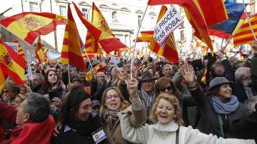 Imagen de archivo de una manifestación contra la independencia convocada por Sociedad Civil Catalana.