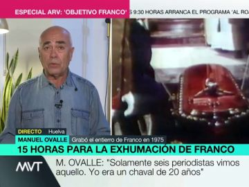 """Manuel Ovalle, uno de los únicos periodistas que fue testigo del entierro de Franco: """"El último que lo besó fue su yerno"""""""