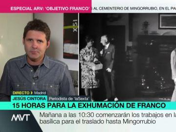 """Jesús Cintora, sobre los presentes en la inhumación de Franco: """"No sé si es un adelanto de Halloween, hay quien los llamaría 'frikis'"""""""