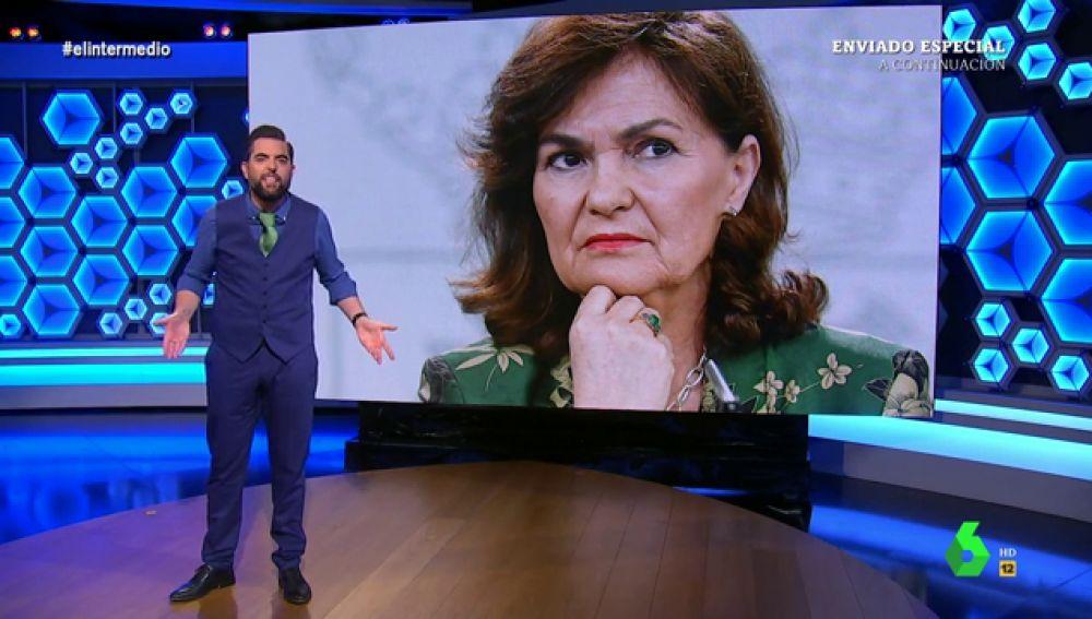 """El análisis de Dani Mateo sobre la última anécdota que deja la exhumación de Franco: """"Carmen Calvo, al hoyo"""""""