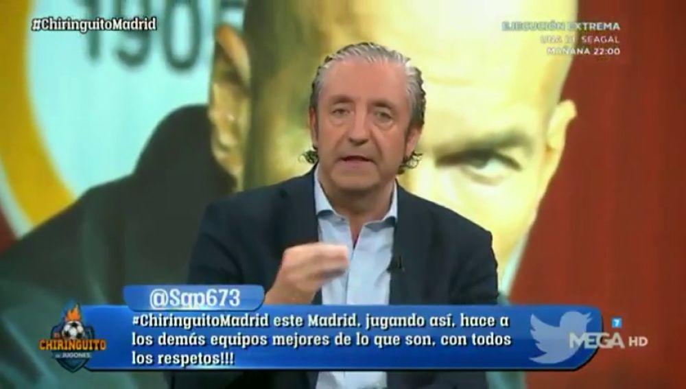 """Josep Pedrerol, muy crítico con Zidane: """"Es el entrenador que menos hace trabajar a los jugadores de Europa y parte de América"""""""