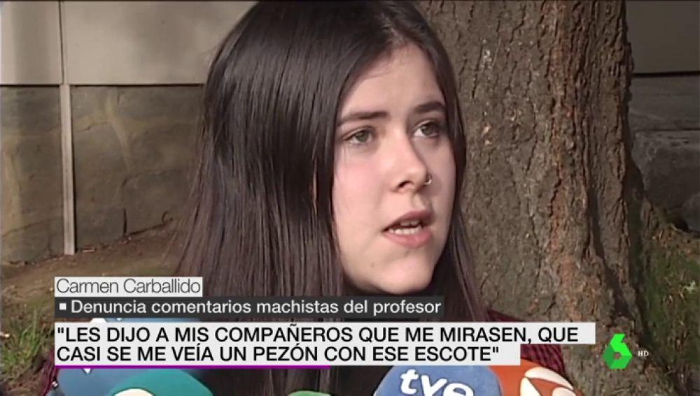 """La alumna que denunció al profesor de Santiago: """"No puedes estar aquí con ese escote"""""""