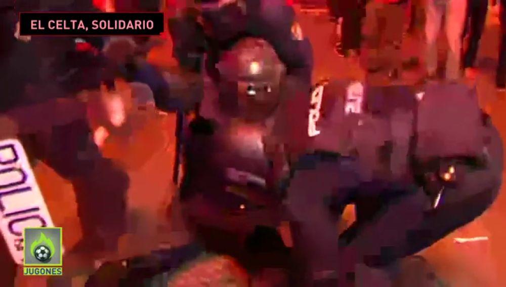 El mensaje de apoyo del Celta al Policía gravemente herido en los disturbios de Barcelona