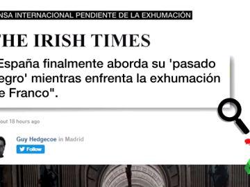 """""""España aborda su pasado negro"""": así ha informado la prensa internacional de la exhumación de Franco"""