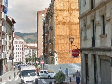 La calle Bruno Mauricio, situada en el barrio de Bilbao la Vieja, en la que han ocurrido los hechos