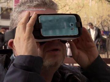 """VÍDEO REEMPLAZO   La reacción de Chicote al ver que el periscopio de El submarino falla: """"Si no funciona la realidad virtual se convierte en una realidad de mierda"""""""