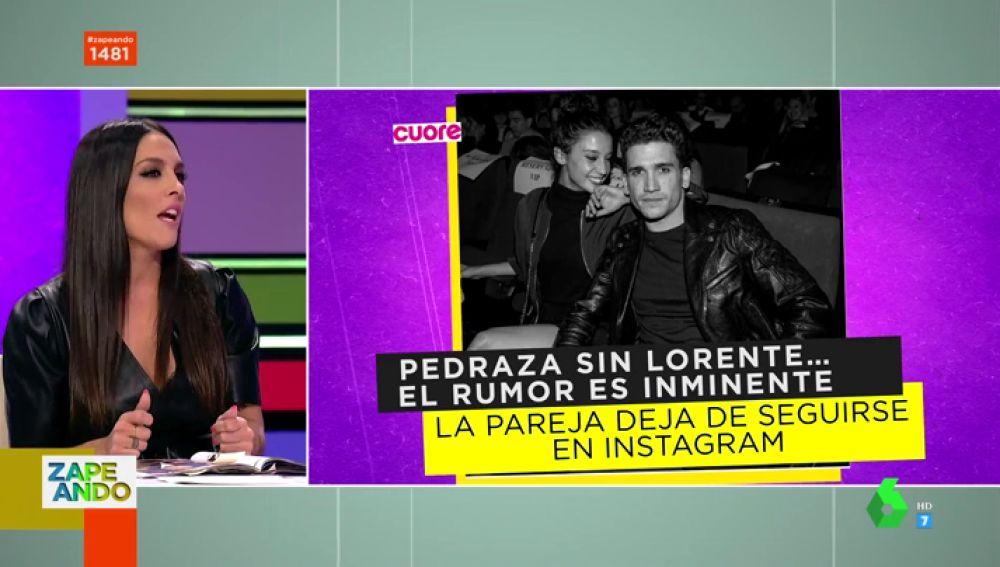 Lorena Castell analiza la posible ruptura entre María Pedraza y Jaime Lorente