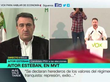 "Aitor Esteban, sobre Vox: ""Se blanquea a un partido totalitario, no se les aísla ni se les dice 'no son un partido democrático'"""