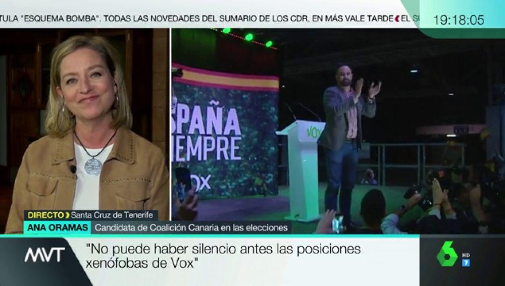"""Ana Oramas: """"Ante las posiciones xenófobas, racistas, misóginas y contra la ley de violencia de género de Vox no puede haber silencio"""""""