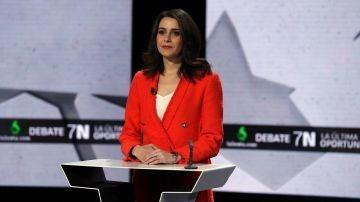 Inés Arrimadas (Ciudadanos) en el debate del 7N en laSexta
