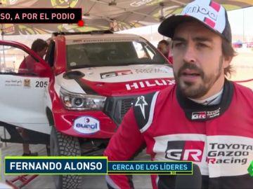 Fernando Alonso repite en el cuarto puesto en la segunda etapa del Ula Neom Rally de Arabia Saudí