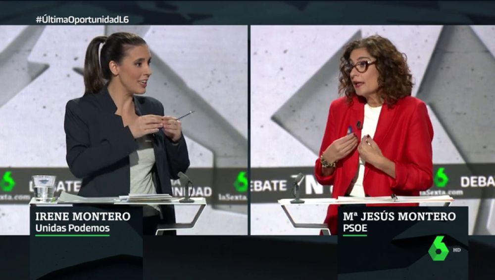 """Irene Montero, a María Jesús Montero: """"Ojalá le ganes la batalla a Calviño y a Pedro Sánchez"""""""