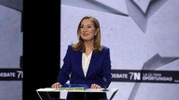 Ana Pastor (PP) en el debate del 7N en laSexta