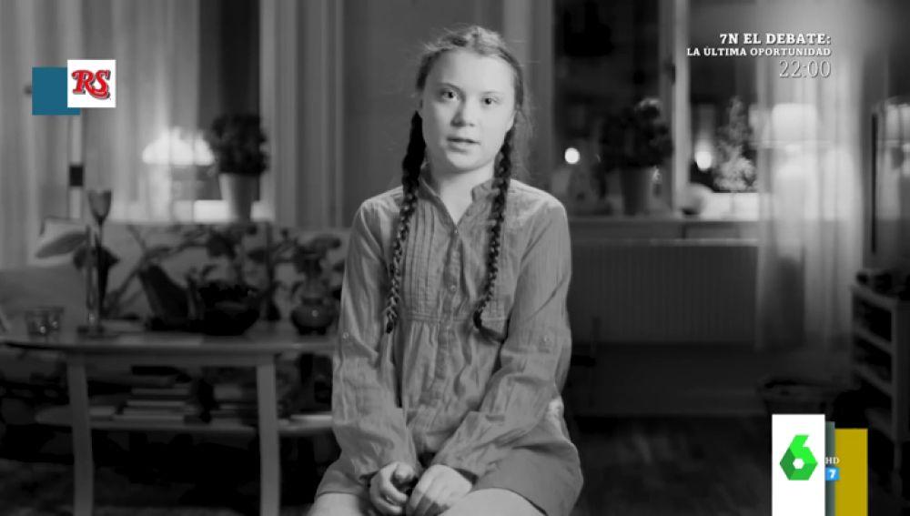 Greta Thunberg 'aclara' en Zapeando cómo se pronuncia realmente su nombre: