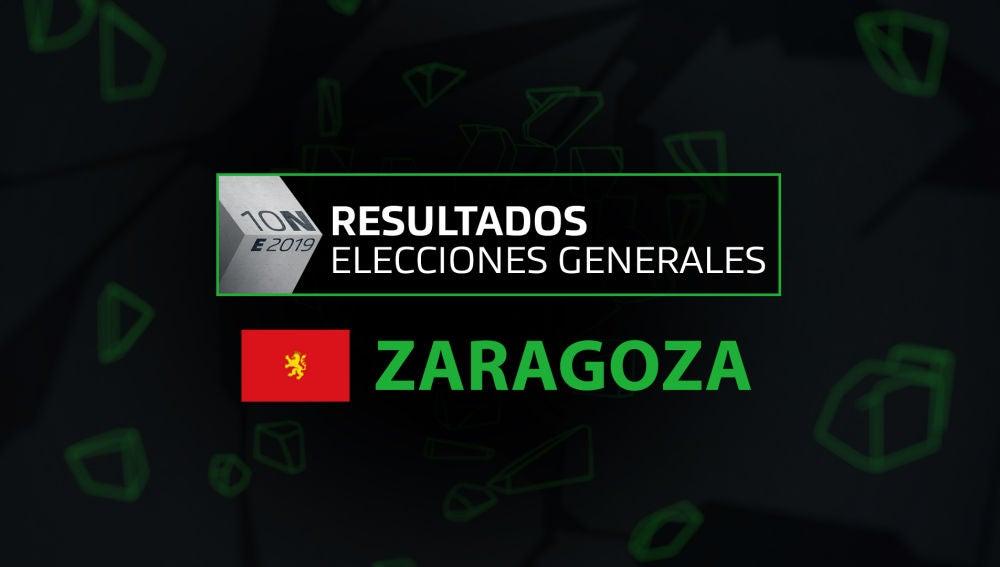 Resultados elecciones generales 10N en el municipio de Zaragoza