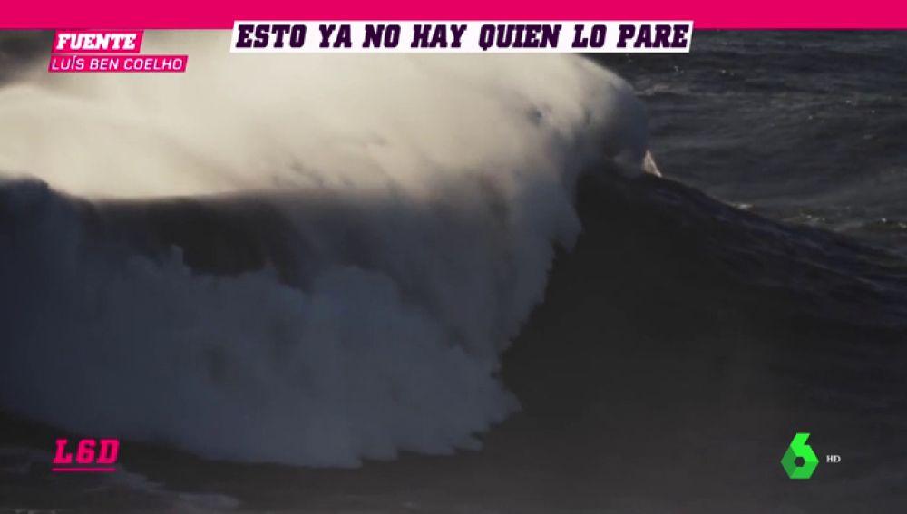 Los mejores surfistas del mundo ya se atreven con las gigantes olas de Nazaré