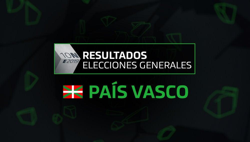 Resultados elecciones generales 10N en la comunidad del País Vasco