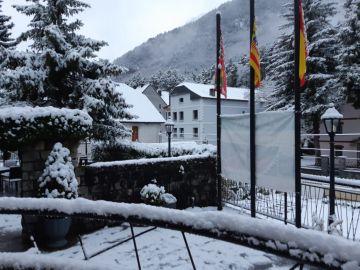 Nieve en Canfranc