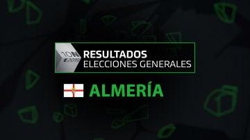 Resultados elecciones generales 10N en la provincia de Almería