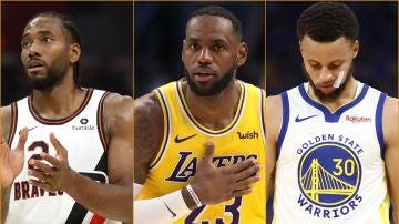 Leonard, James y Curry