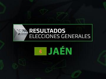 Resultados elecciones generales 10N en la provincia de Jaén