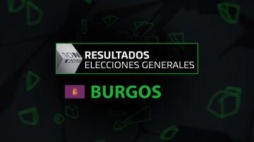 Resultados elecciones generales 10N en la provincia de Burgos