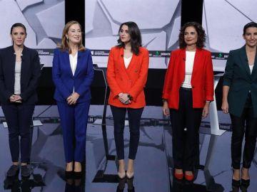 Las candidatas participantes en el debate 7N