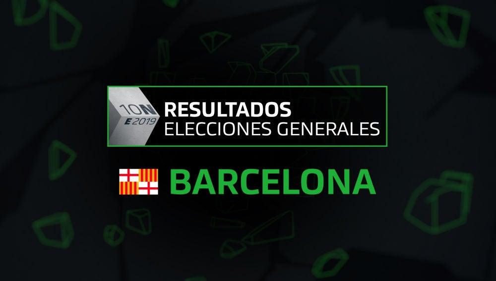 Resultados elecciones generales 10N en el municipio de Barcelona
