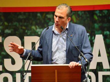 Javier Ortega-Smith en un mitin de Vox