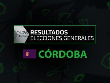 Resultados elecciones generales 10N en la provincia de Córdoba