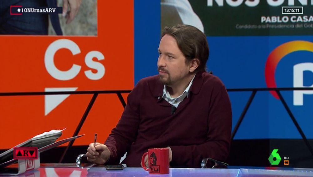 """Pablo Iglesias: """"Vamos a tender la mano al PSOE, a pesar de los reproches"""""""