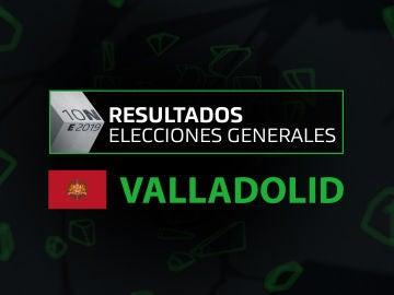 Resultados elecciones generales 10N en la provincia de Valladolid