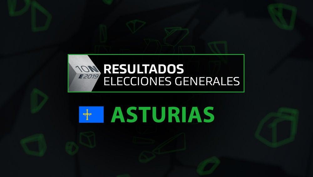 Resultados elecciones generales 10N en la comunidad de Asturias