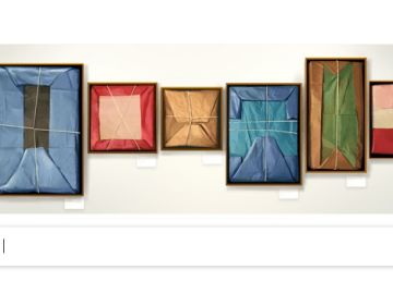 Doodle de Google en homenaje a Claudio Bravo Camus