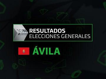 Resultados elecciones generales 10N en la provincia de Ávila