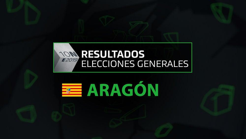 Resultados elecciones generales 10N en la comunidad de Aragón