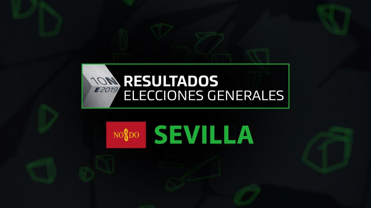 Resultados elecciones generales 10N en el municipio de Sevilla