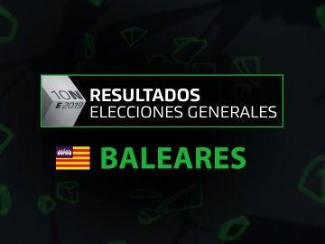 Resultados elecciones generales 10N en la comunidad de Islas Baleares