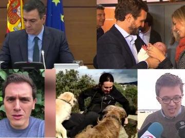 Imagen de los candidatos en la jornada de reflexión
