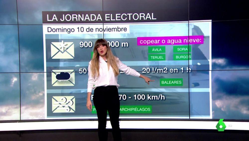 Joanna Ivars explica la previsión del tiempo para el 10N