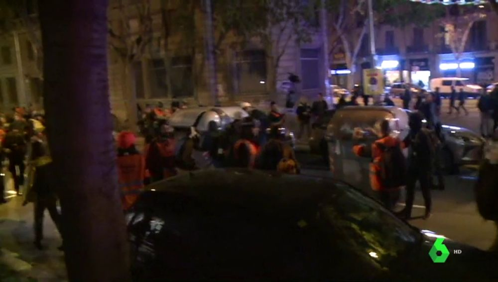 Tensión en las calles de Barcelona