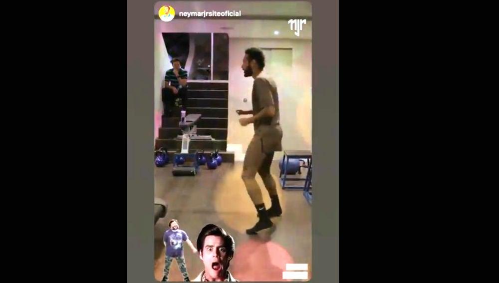 Neymar, bailando
