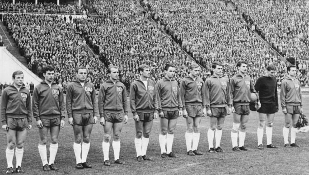 La selección de Alemania Oriental