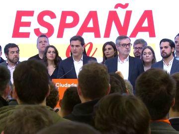 Albert Rivera tras el resultado de las elecciones generales