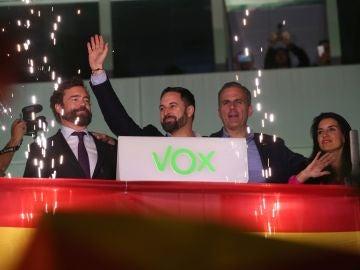 Abascal, Espinosa de los Monteros y Ortega Smith el 10N en Madrid